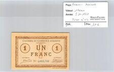 BILLET DE NÉCESSITÉ - FRANCE - AMIENS - 1 FRANC - 5.11.1920
