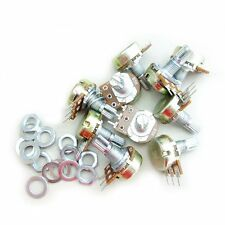 10PCS B5K OHM Linear Taper Rotary Potentiometer 15MM Shaft 3 Pins with Nuts