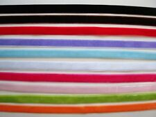 "10 yards 3/8"" Velvet Ribbon Satin Back Mix Lot/10 colors/9mm/Craft/Trim R116-Mix"