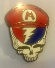 Super Mario Collectors Pin Grateful Dead Steal Your Face