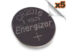 5 PC ENERGIZER CR2016 WATCH BATTERIES 3V LITHIUM CR 2016 DL2016 BR2016