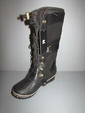 SOREL Conquest Carly Leather Waterproof Black Boots $220   NIB  EU 41 10