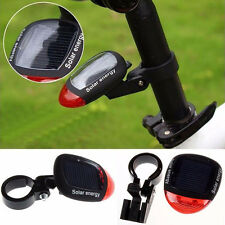 Solar Powered LED Rear Flashing Tail Light Bicycle Cycling Lamp Safety HOT