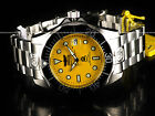 Invicta 3048 Men's 300M Grand Diver Automatic Yellow Dial Stainless Steel Watch