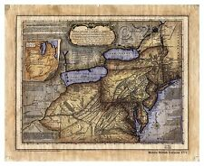 """""""Middle British Colonies 1771"""" Lisa Middleton Artistically Enhanced Map"""