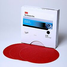 "3M 1100 01100 8"" 80 GRIT Red Sandpaper Stikit PSA Sanding Disc 25 in a box"