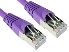 0.5m RJ45 Ethernet Cable CAT 6a Shielded Snagless Patch LAN Network Lead PURPLE