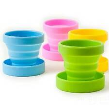 Outdoors Travel Portable Soft Silicone Telescopic Collapsible Folding Cup Mug