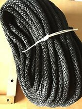 "5/8"" X 100'  Braided Derby Rope Black Horse Dog Lead Lines, Leashes Tie Downs"
