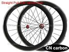 Straight pull carbon hub 50mm Clincher carbon bike wheels Alloy brake surface