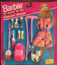Barbie Doll So Much To Do CLEANIN' HOUSE Outfit And Accessories Sealed NRFP