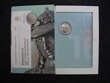FOLDER 2 EURO COMMEMORATIVO SAN MARINO 2016 DONATELLO