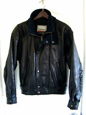 Men's Body Equip Motorcycle Jacket Black Leather Sz Small