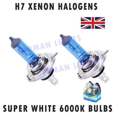 2x H7 SUPER XENON WHITE HEADLIGHT BULBS 6000K AUDI BMW MERCEDES FORD GOLF Hid 43