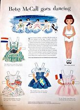 Betsy McCall Mag. Paper Doll, Betsy McCall Goes Dancing, Nov., 1952