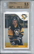1985 Topps Hockey #9 Mario Lemieux Penguins Rookie Card BGS 9.5 Gem Mint