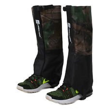1 Pair Of Waterproof Outdoor Hiking Walking Hunting Snow Legging Gaiters Covers