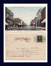 MICHIGAN IRONWOOD SUFFOLK STREET, POSTED 1906 TO MRS. MALONE, OSKOSH, WISCONSIN