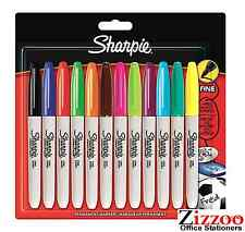 SHARPIE MARKER PENS - PERMANENT FINE POINT PACK OF 12 - ASSORTED - 5000 + SOLD!