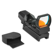 New 33mm Lens Tactical 4 Reticle Red Dot Sight Scope With Mounts For Hunting