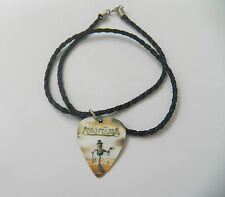 ED GUY AVANTASIA guitar pick plectrum braided twist LEATHER NECKLACE 20""