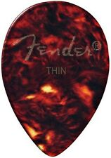 FENDER® #358 TEAR DROP (THIN) TORTOISE SHELL GUITAR PICKS (12-PACK) *NEW*