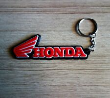 New HONDA Red Black Keychain Keyring Motorcycle Bike Car Collectible Rubber Gift
