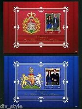 William & Kate Royal Engagement St. Kitts pair of mnh souvernir sheets 2011