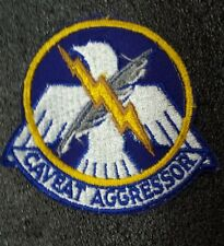 USAF 4123rd Combat Defense Sq Patch Caveat Aggressor