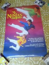 "3 Ninjas Kick Back Poster Promotional 1994 27"" x 40""  Free Quick Shipping"