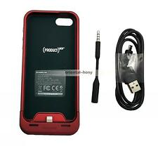 New Mophie iPhone 5/5S & SE Juice Pack Air 100% Extra1700mAh Battery Red Case