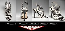 GUESS WOMEN'S OZANA SANDALS HEELS ANIMAL PRINT SHOES Sz. 6