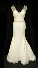 Ronald Joyce Designer Wedding Dress 69116 Amber Ivory Size 10 RRP £1899