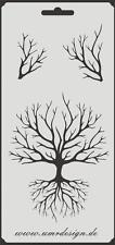 Scrapbook Stencil S-057  Tree ~ Craft ~ UMR-Design