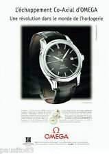 PUBLICITE ADVERTISING 056  2001   Omega  montre Co- Axial