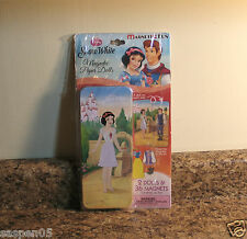 Disney Princess Snow White Magnetic Paper Dolls Play Set With Tin Case New