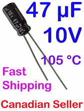 2pcs 47uF 10V 5x11mm 105C Nichicon PS Low Impedance For TV LCD AUDIO PS VIDEO AV