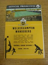 16/01/1965 Wolverhampton Wanderers v Blackburn Rovers  (Small Nick To Top Corner