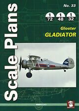 Mushroom Model Scale Plans No. 33: Gloster Gladiator