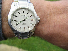 TISSOT PR100 DIVER'S 100M SAPPHIRE GLASS TEXTURED WHITE DIAL P660/760 LOVELY CON