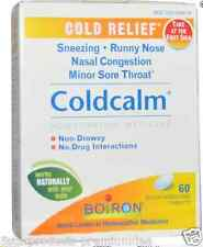 NEW BOIRON COLDCALM COLD RELIEF SNEEZING RUNNY NOSE NASAL CONGESTION BODY CARE