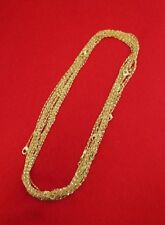 WHOLESALE LOT OF 50 14KT GOLD PLATED 16 INCH 1mm TWISTED NUGGET CHAINS