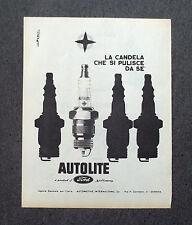 G883 - Advertising Pubblicità - 1964 - AUTOLITE LA CANDELA CHE SI PULISCE DA SE