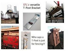 T-Post Mounting Bracket 2 Pack Electric Fence Light Birdhouse, Squirrel Feeder