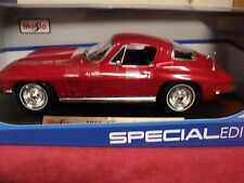 Maisto 1965 Chevrolet Corvette  1/18th scale new RED exterior