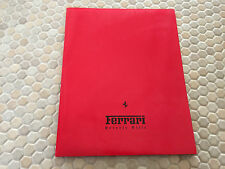 FERRARI OFFICIAL FACTORY ISSUED PRESS KIT BROCHURE LOS ANGELES AUTOSHOW MY 2002