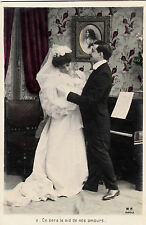 CD98.Vintage Greetings Postcard.It will be our love nest.Bride and Groom