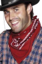 Rotes Cowboy Halstuch Deluxe NEU - Zubehör Accessoire Karneval Fasching