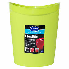 Addis Lime Green Flexi-Bin Waste Paper Basket Rubbish Tub Office Kids Bedroom