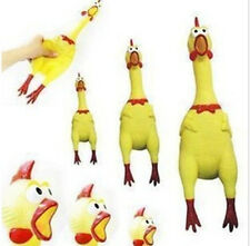17CM Yellow Screaming Rubber Chicken Pet Dog Toy Squeak Squeaker Chew Gift ACX I